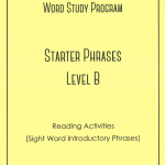 Smart Words Starter Phrases Level B Reading Activities