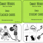 Smart Words Bingo Cards: Level A